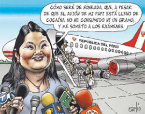 Carlín. Keiko  avion con droga