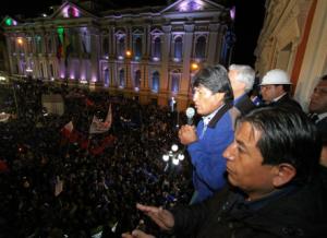 Evo Morales gana  elecciones