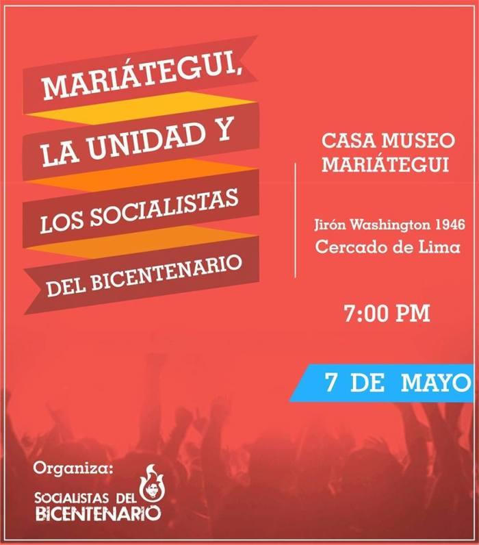 Mariátegui, la Unidad y los Socialistas del Bicentenario