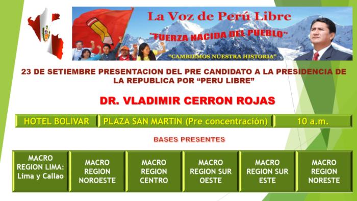 Peru Libre en Lima