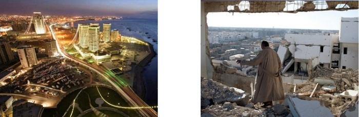 Libia antes y después de la intervención de EE.UU.