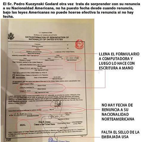 PPK, nueva renuncia a ser gringo en 2015.