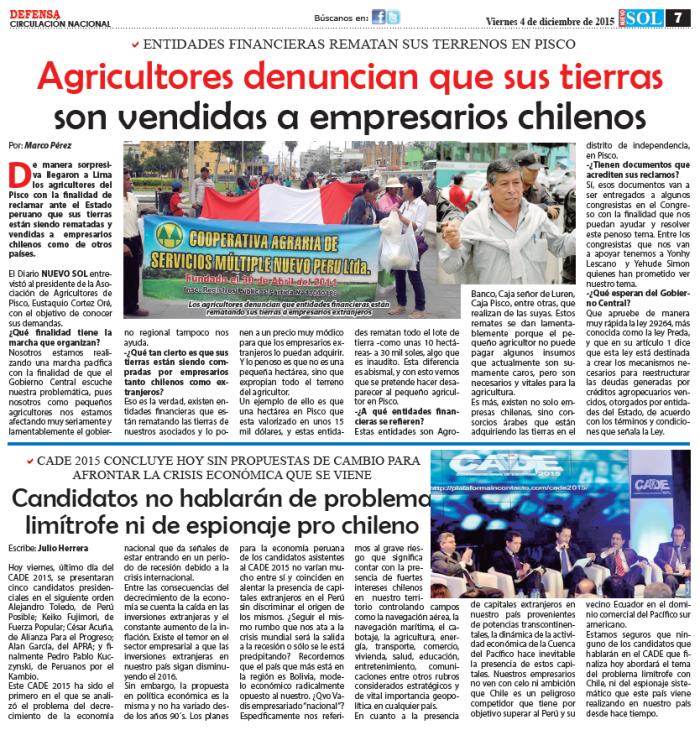 Agricultores denuncias que sus tierras son vendidas a empresarios chilenos.png
